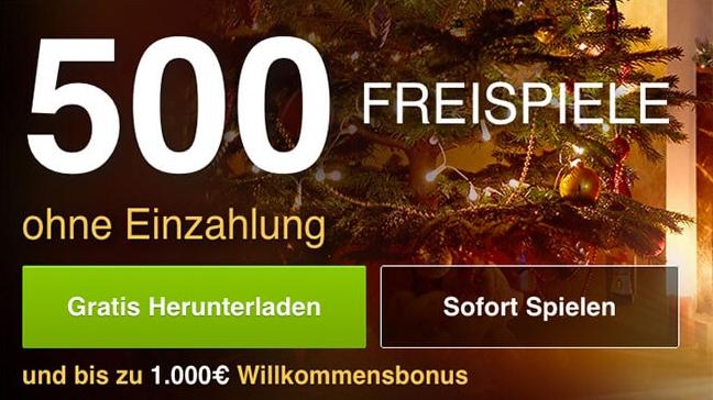 Freispiele 500 Bonus - 32158