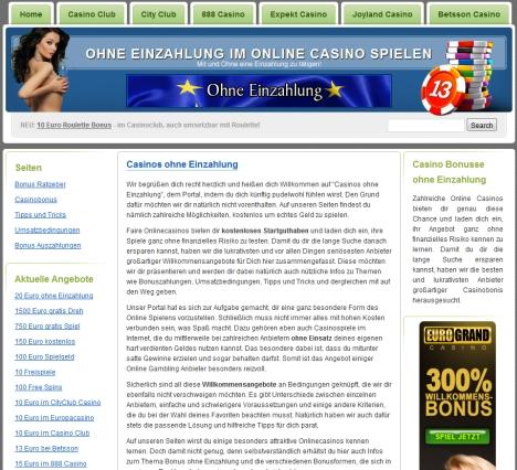 Onlinecasino Bonus ohne - 30665