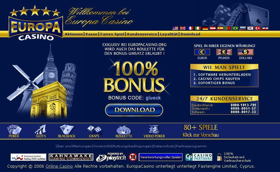 Europa Casino app - 55285