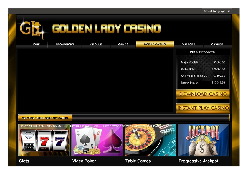 Goldenlady Mobile Casino