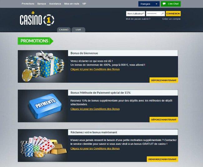 Casino Testbericht Casino1 - 81168