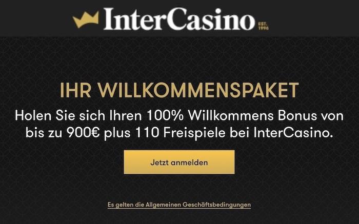 Intercasino Bonus Code