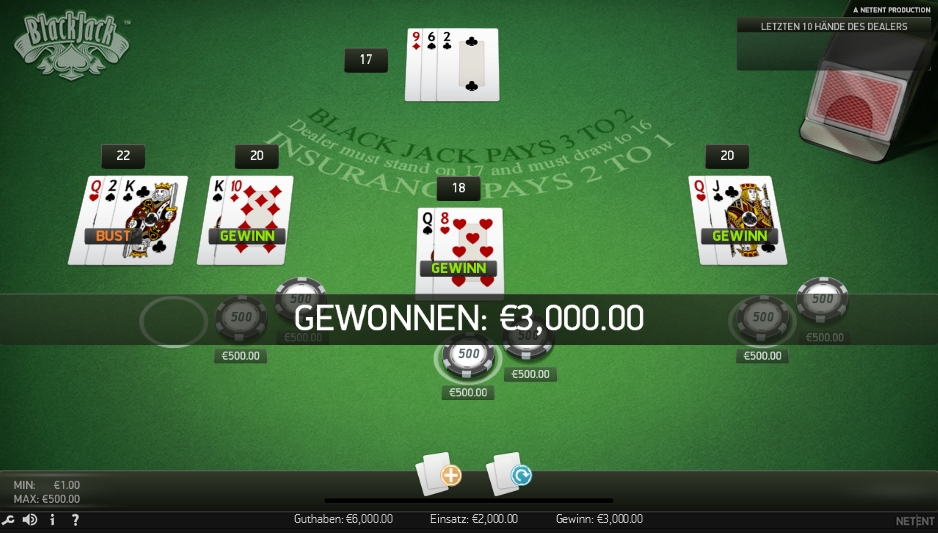 Blackjack Spielgeld Casiplay - 35119