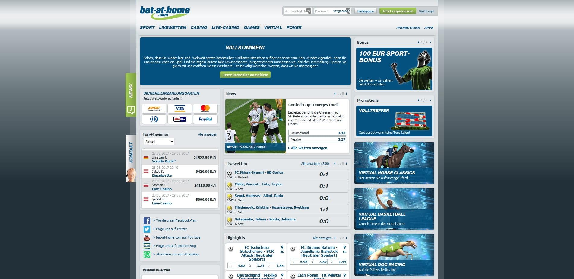 Buchmacher Sportwetten Demo - 44500