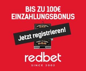 Werbecode Redbet Freispiele - 90531