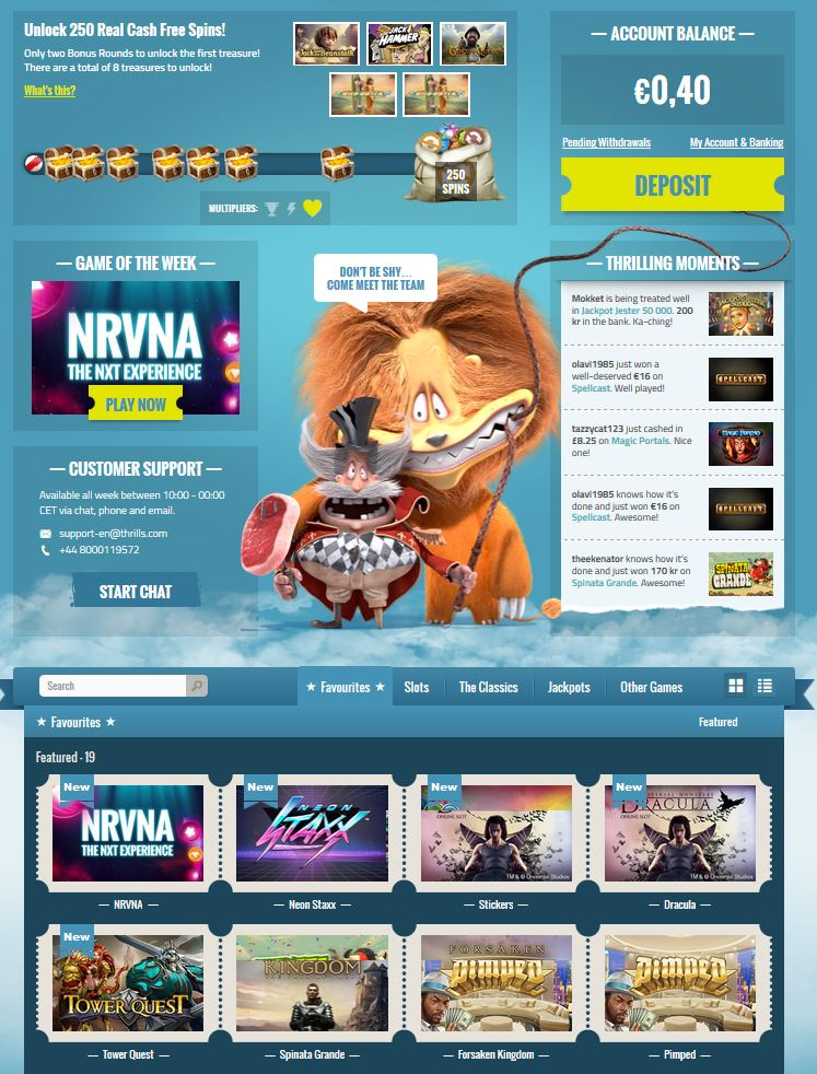 Analyse Gaming Thrills Casino - 96778