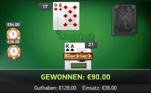 Black Jack Tabelle - 87718