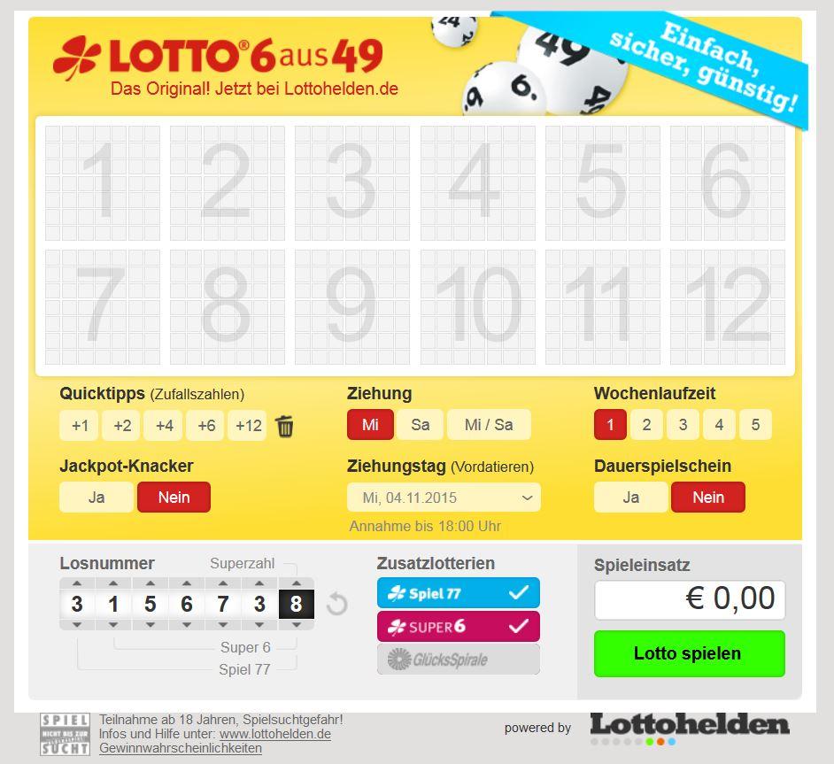 Lotto online Gewinn auszahlen - 77509