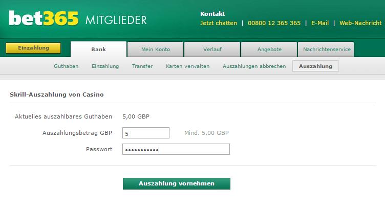 Auszahlung von - 13405