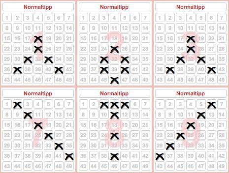 Unterschiedliche Spielertypen Lotto - 56223