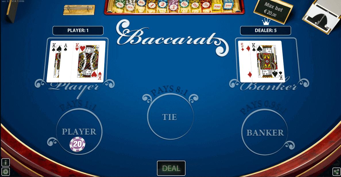 Baccara Kartenspiel - 36926