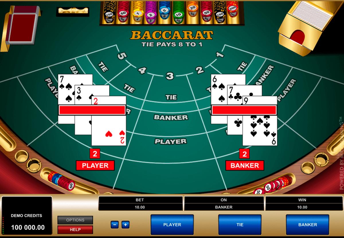 Baccara Kartenspiel Thebes Casino - 10894