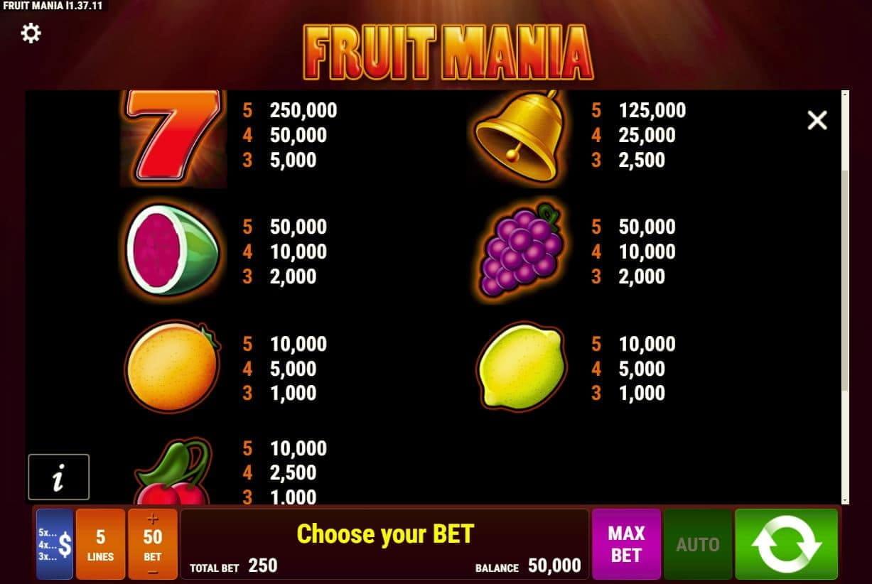 Erfahrungen Casino Fruit Mania - 27721