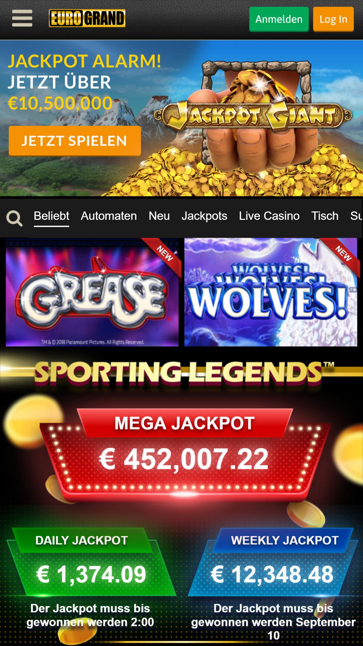 Eurogrand Casino Bonus - 51037