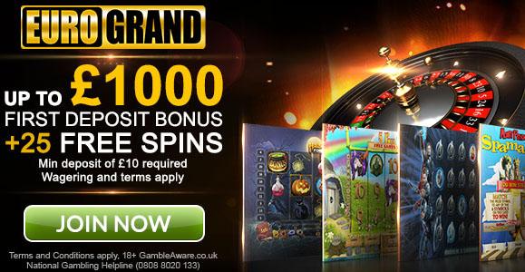 Eurogrand Casino Bonus - 16685
