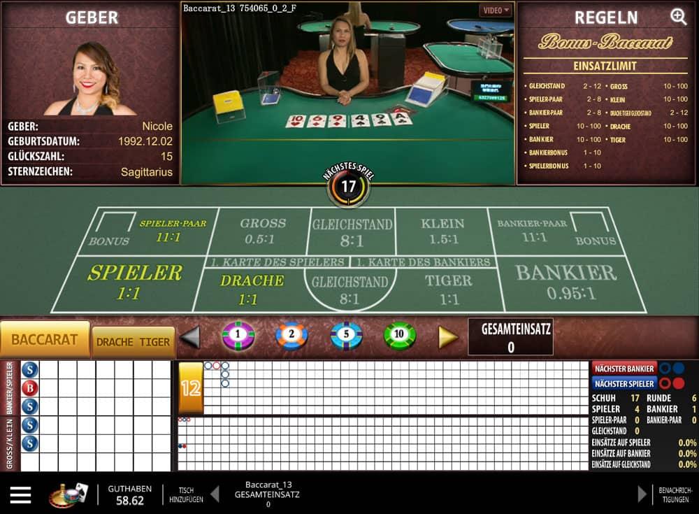 Fairstes online Casino Baccarat - 51681