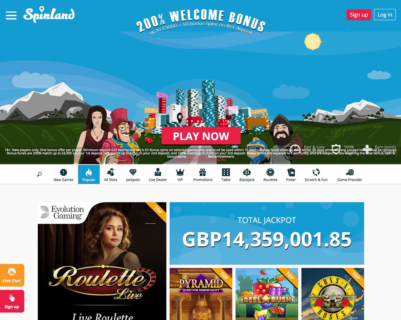Nigeria Wettanbieter Casino Spinland - 63207