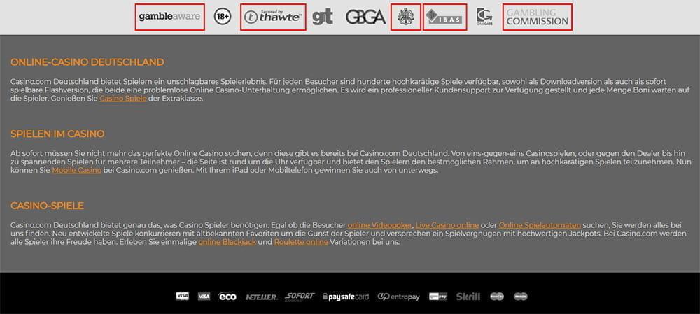 Online Casino immer - 2380