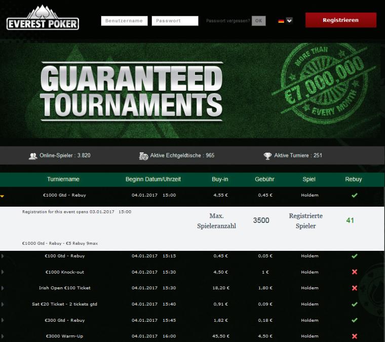 Poker Turniere 2019 - 30773