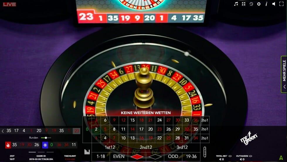 Roulette Reihenfolge Gefallener - 72846